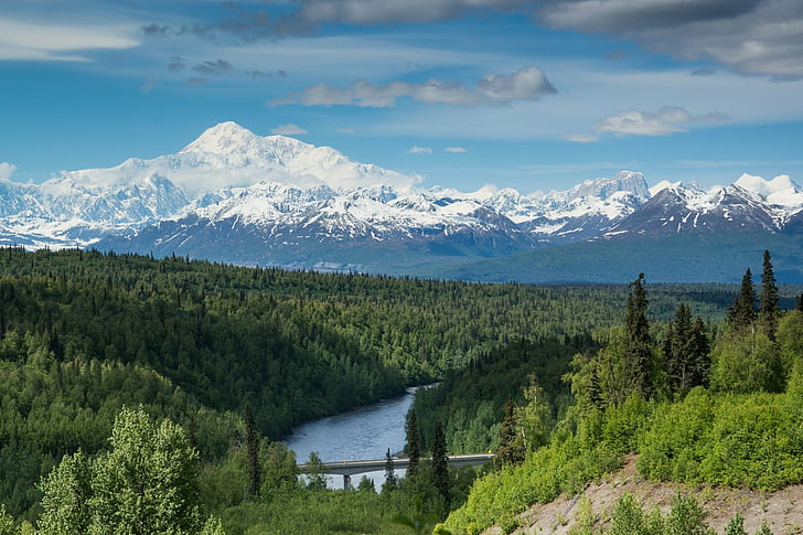 summer in Alaska, viewing Denali and the mountain range, mission