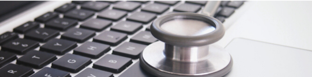 stethoscope sitting on a laptop, upcoming events